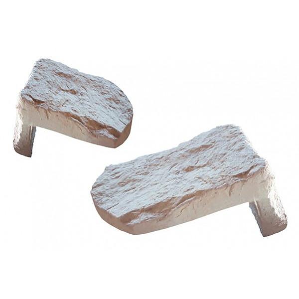 Piezas de esquina individuales Ibiza blanco terra Standard Rustic Collection