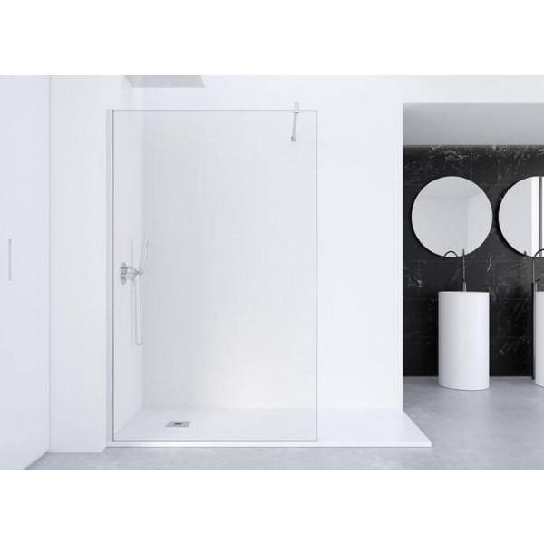 Mampara de ducha una hoja fija 100cm con antical serie FADO PROFILTEK