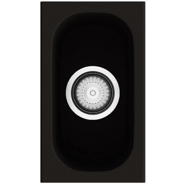 Fregadero Gandia 15 brown brillo sobre encimera 195x340mm