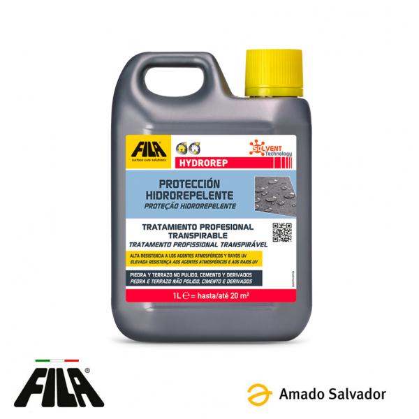 HYDROREP Protector hidrófugo anti-envejecimiento para piedra y cemento Fila 1L