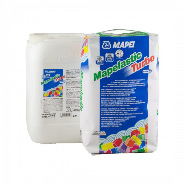 Mortero cementoso MAPELASTIC TURBO KIT MAPEI