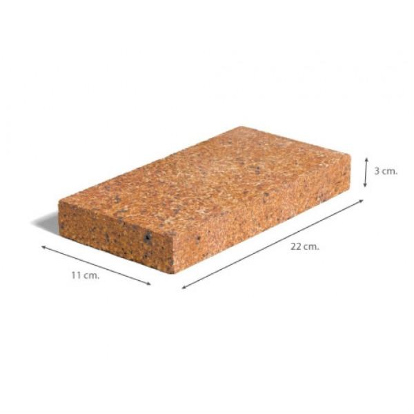 Ladrillo Refractario del 3 acabado tradicional 22x11x3 cm
