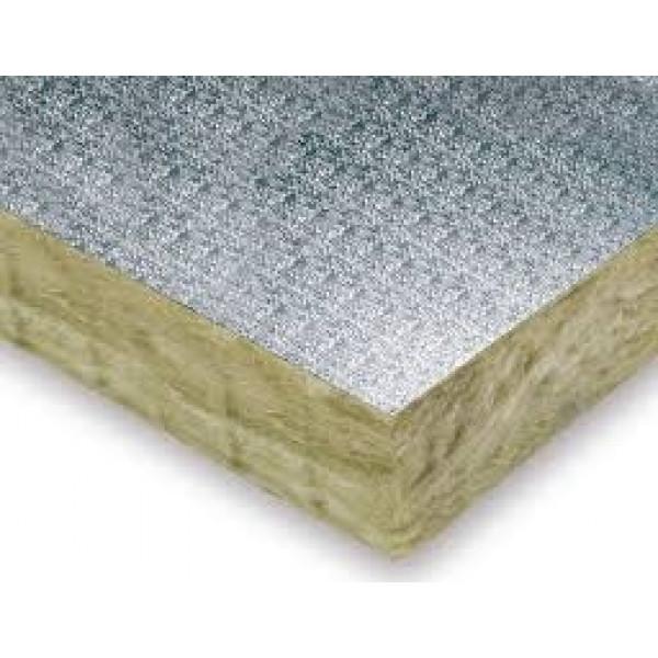 Panel de lana mineral recubierto de aluminio gofrado 50mm espesor 1200x1200mm