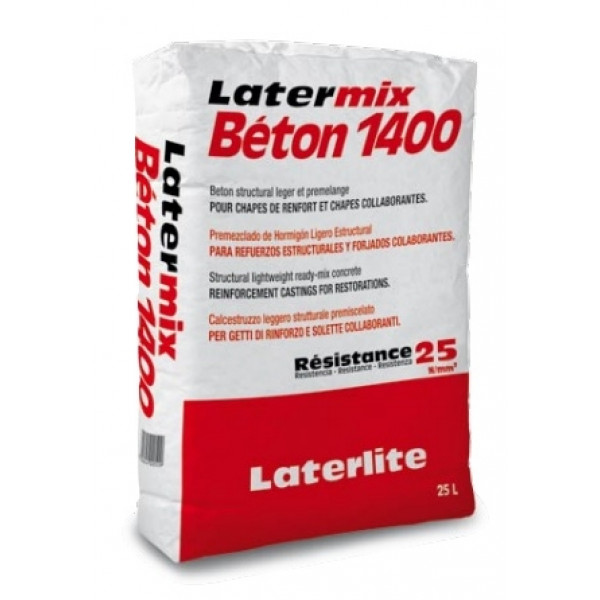 Premezclado de hormigón ligero estructural Latermix Beton 1400