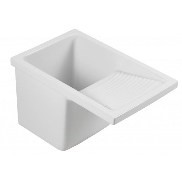 Lavadero blanco de porcelana de 49x61 cm