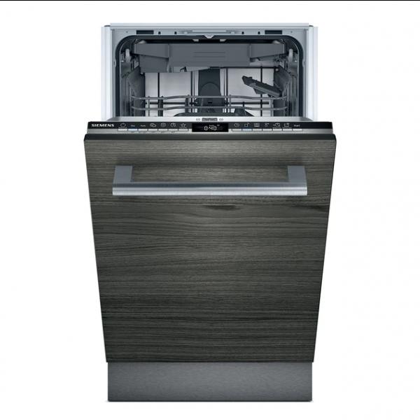 Lavavajillas premium 9 servicios 45x81,5cm acabado negro y acero Siemens