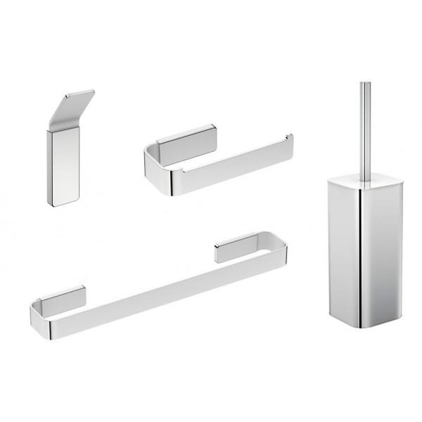 Accesorios de baño cromo Line de Bath+ (Adhesivos)