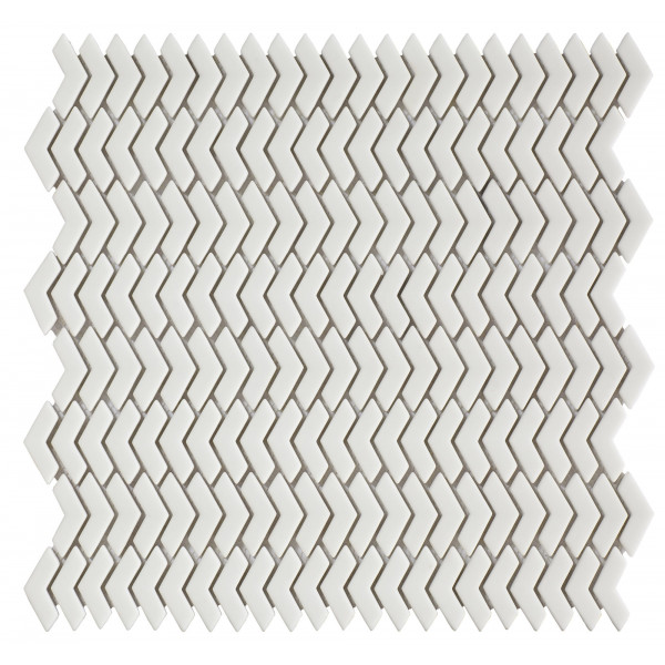 Mosaico enmallado QUIET White 29x29,5cm Harmony Peronda