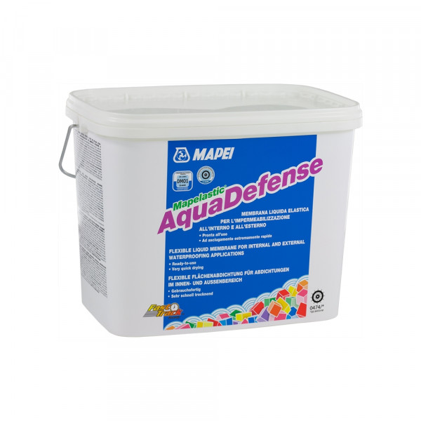 MAPELASTIC AQUADEFENSE Membrana líquida para impermeabilización, de secado extremadamente rápido 7,5kg