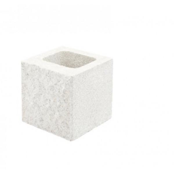 Medio bloque Split GANDIA 20x20x20cm Blanco Hidrofugado