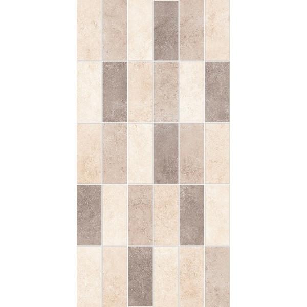 Revestimiento MICENAS Mosaico Desert 25x50cm mate pasta roja