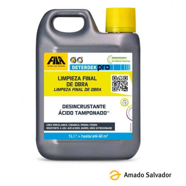Fila Deterdek Pro desincrustante ácido para cerámica (Quitacementos) 1L