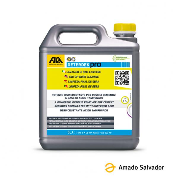 Fila Deterdek Pro desincrustante ácido para cerámica (Quitacementos) 5L