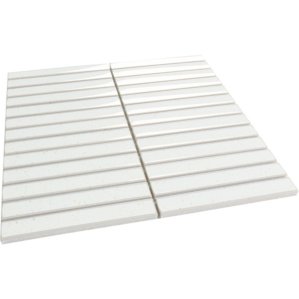 Mosaico enmallado PIANO White 29,8x29.8cm