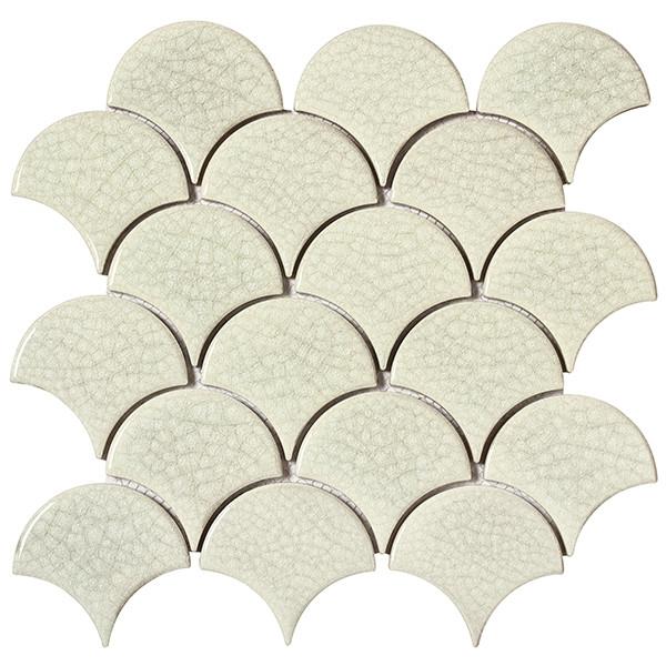 Mosaico enmallado ATLANTIS WHITE porcelánico esmaltado