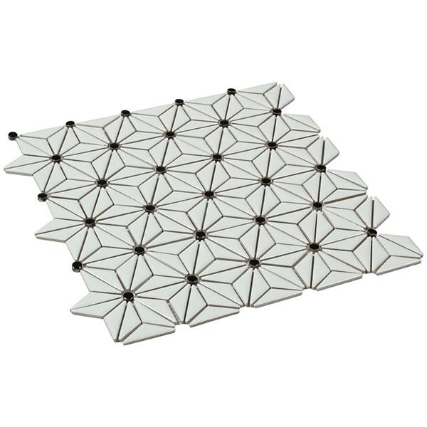 Mosaico enmallado TOKYO WHITE porcelánico esmaltado