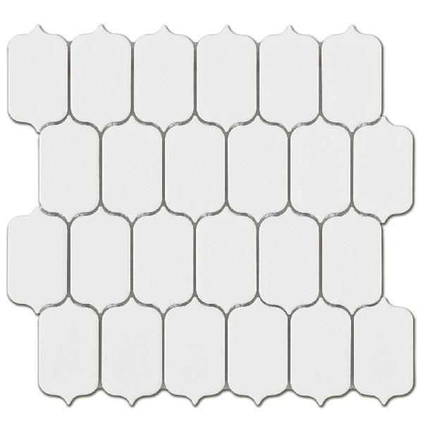 Mosaico enmallado LATERN WHITE GLOSS porcelánico esmaltado