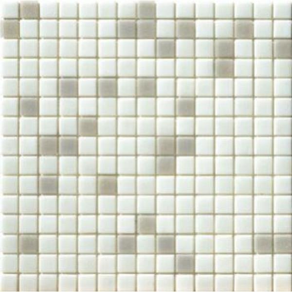 Mosaico Vitreo Bianco Mix 2x2CM en malla 32,7x32,7CM Mosaico piu