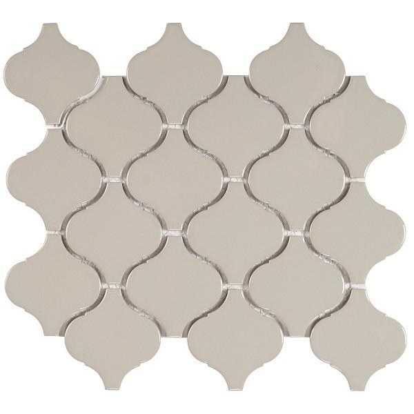 Mosaico enmallado FLAME GREY GLOSS porcelánico esmaltado