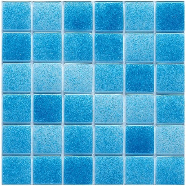 Mosaico vitreo MAR (azul) serie NIEBLA 2,5x2,5 cm en mallas de 33,3x33.3 HISBALIT