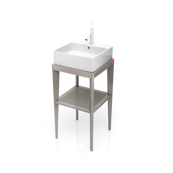 Mueble de baño cuadrado con patas varios colores STAND UP + lavabo B&K