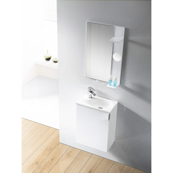 Conjunto mueble de baño OPORTO con lavabo y espejo B&K