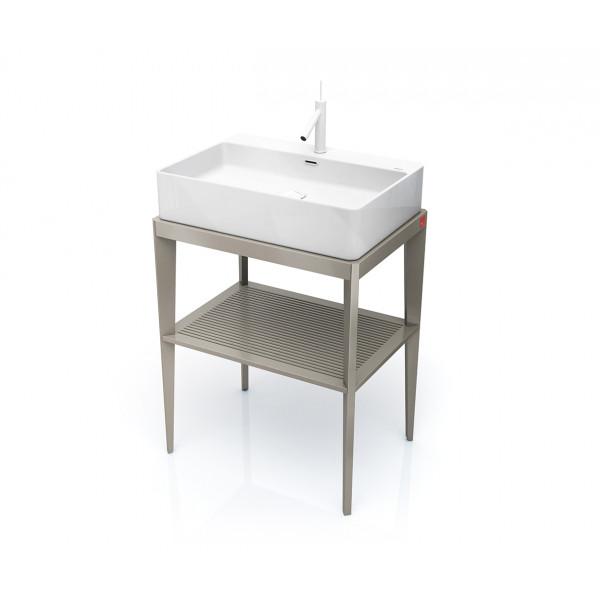 Mueble de baño rectangular con patas varios colores STAND UP + lavabo B&K