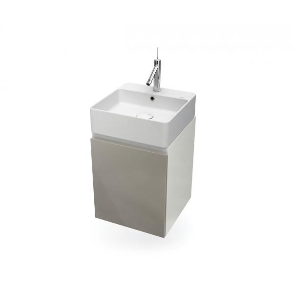 Mueble de baño suspendido HANG OUT blanco y gris módulo cuadrado + lavabo B&K