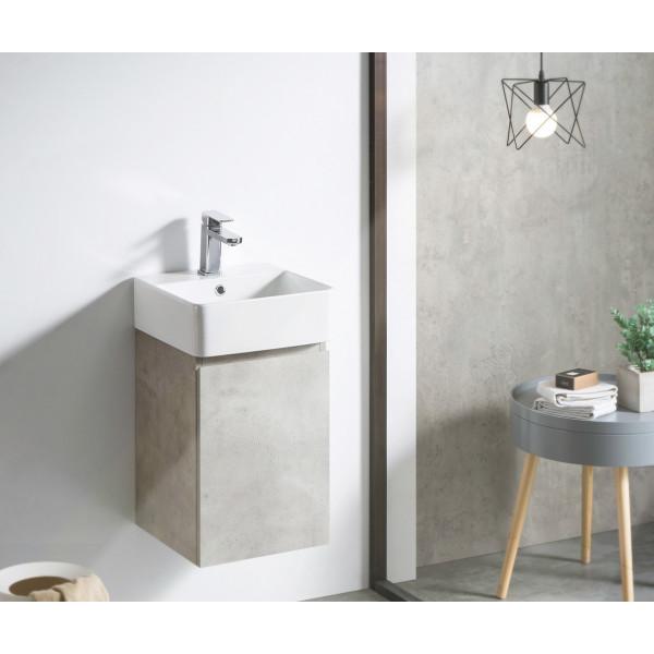 Mueble de baño suspendido módulo cuadrado HANG OUT varios colores + lavabo B&K
