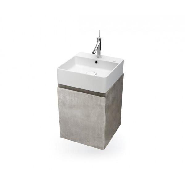 Mueble de baño suspendido HANG OUT cemento módulo cuadrado + lavabo B&K