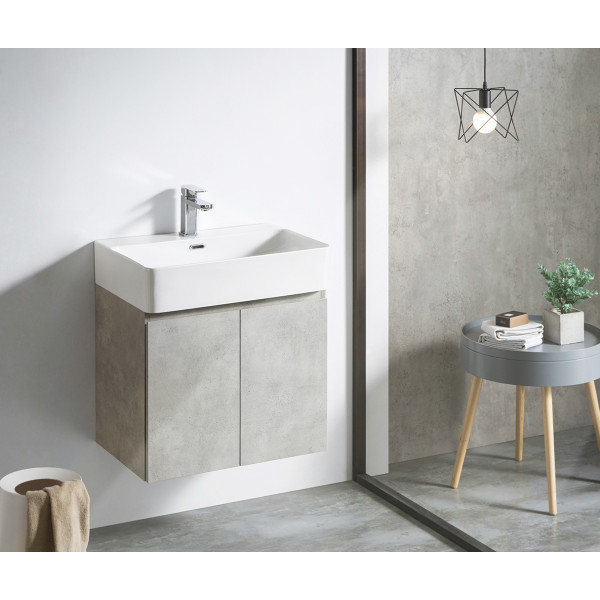 Mueble de baño suspendido módulo Rectangular HANG OUT varios colores + lavabo B&K