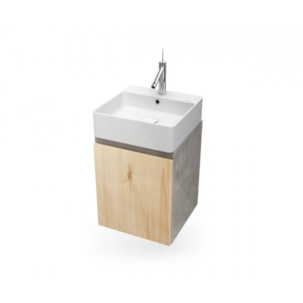 Mueble de baño suspendido HANG OUT roble módulo cuadrado + lavabo B&K