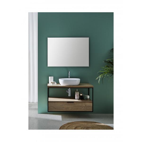 Mueble de baño suspendido ESTRUCTURA 80 cm acabado madera