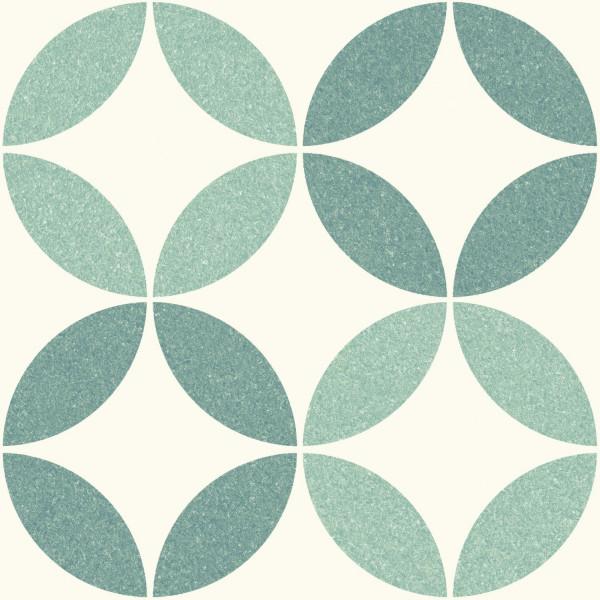 Pavimento NICE Green 25x25cm hidráulico pasta blanca porcelánico