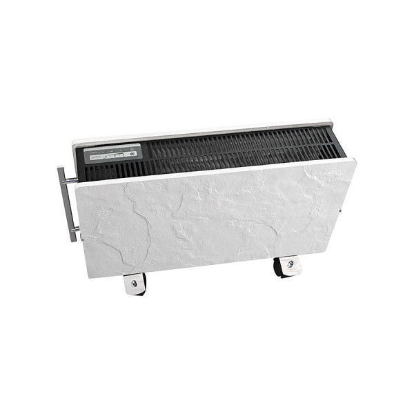 Radiador eléctrico portatil de diseño Optimus 800/1600 w Pizarra nieve 50,5x34x13 cm