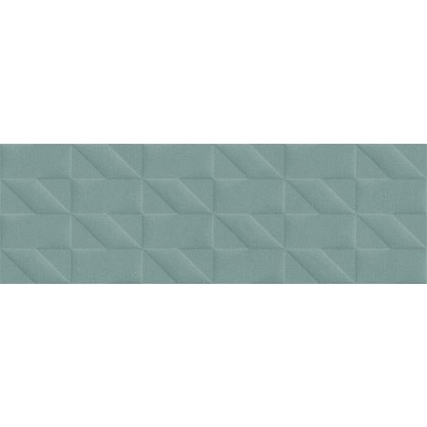 Revestimiento OUTFIT turquoise Struttura Tetris 3D 25x76cm pasta blanca Marazzi
