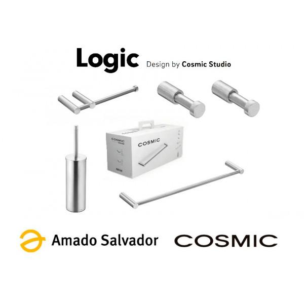 Pack accesorios de baño inox Logic Cosmic