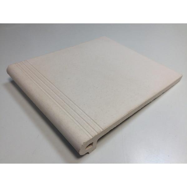 Peldaño IBIZA Blanco 27,5x32cm gres extrusionado biselado