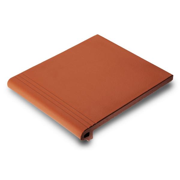 Peldaño MONTSERRAT Rojo 27x31cm gres extrusionado biselado