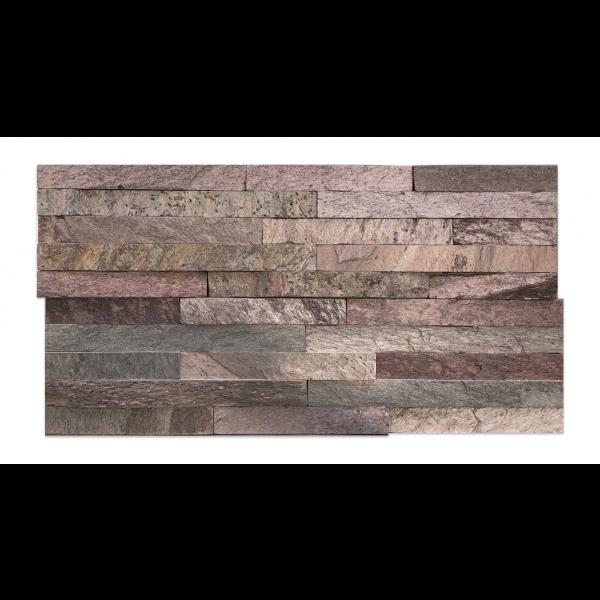 Mosaico Piedra natural pizarra golden slate panel 60x15