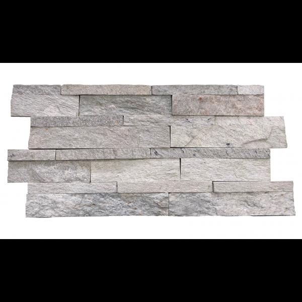 Mosaico Piedra natural pizarra white slate panel 60x15