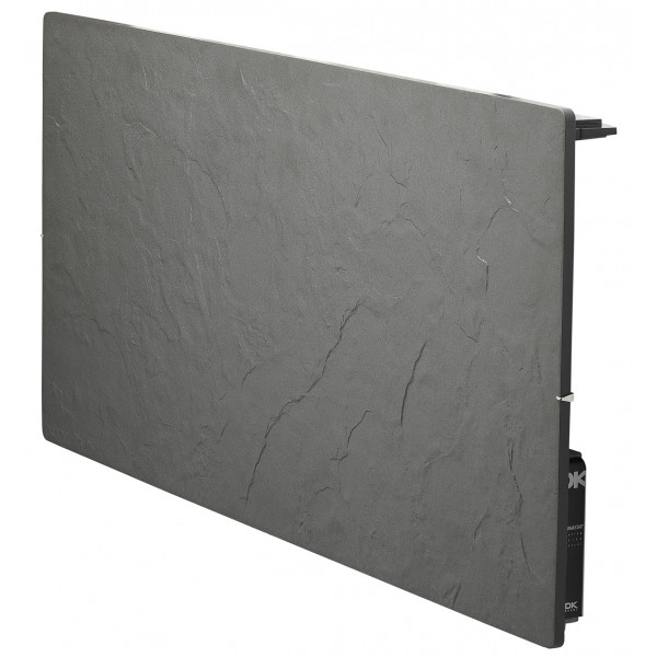 Radiador eléctrico de diseño Avant Touch horizontal 2000w Pizarra Azabache 1000x500x105mm