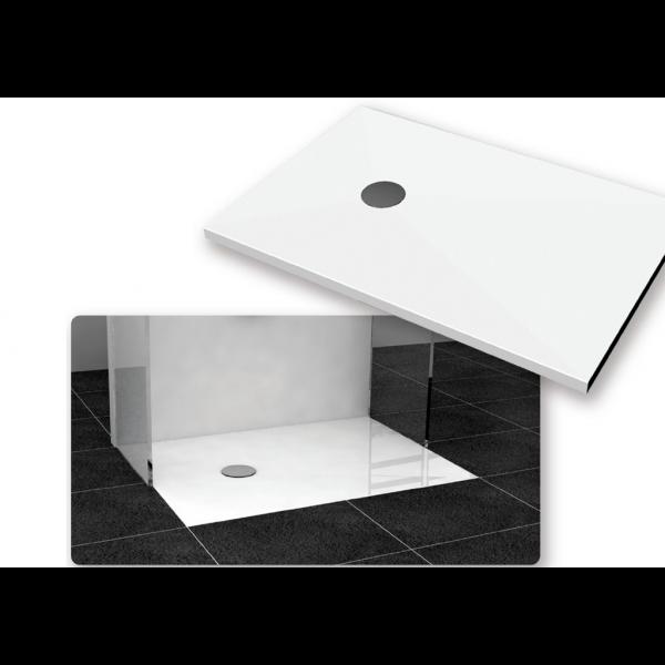 Plato de ducha Yager acrílico ultra-reforzado pizarra blanco