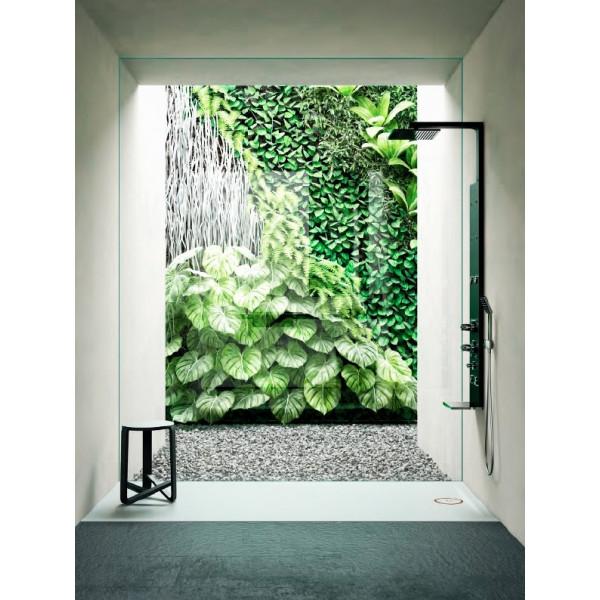 Plato de ducha antideslizante SOLID blanco 80x190cm Solid Surface