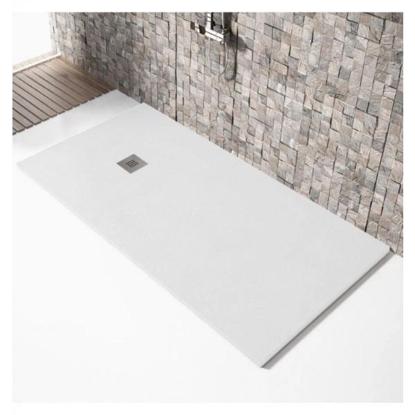 Plato de ducha antideslizante MADISON Solidstone resina textura piedra