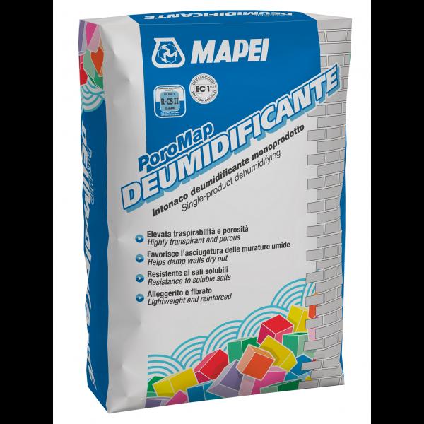 POROMAP DEUMIDIFICANTE para saneamiento de muros afectados por humedad 20 kg