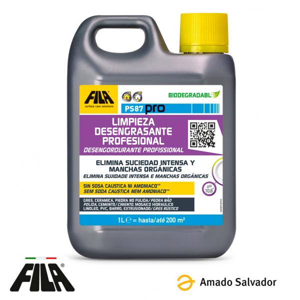 PS87 PRO Detergente desengrasante, quitamanchas y decapante 1L FILA