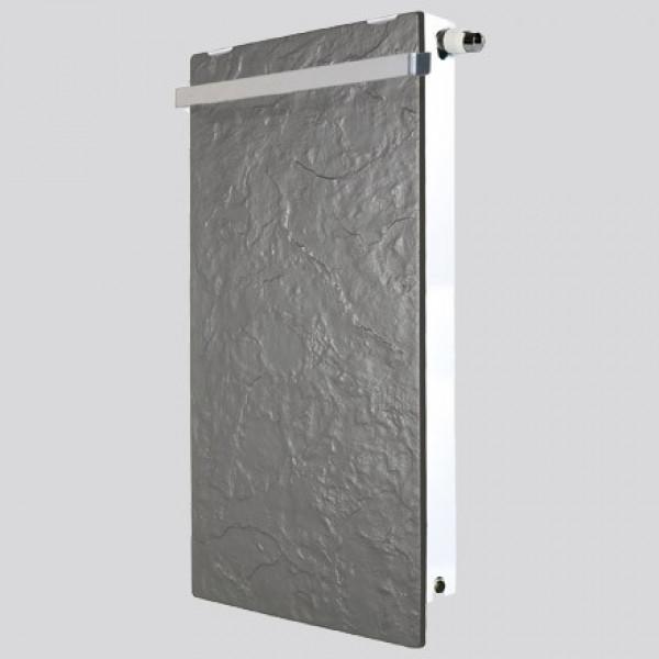 Radiador eléctrico Smart Pro rectangular con toallero 1000w Pizarra Azabache