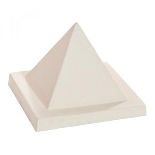 Remate pirámide 26x26x21cm blanco hidrofugado