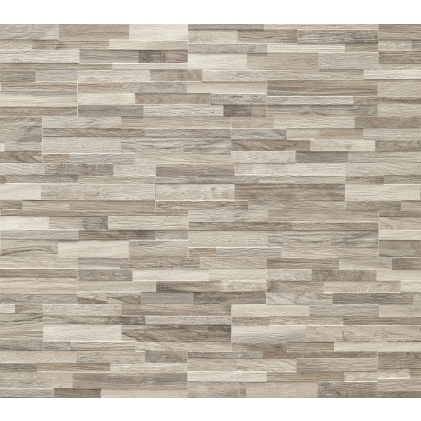Revestimiento WALL ART GREIGE 3D porcelanico tipo madera laja
